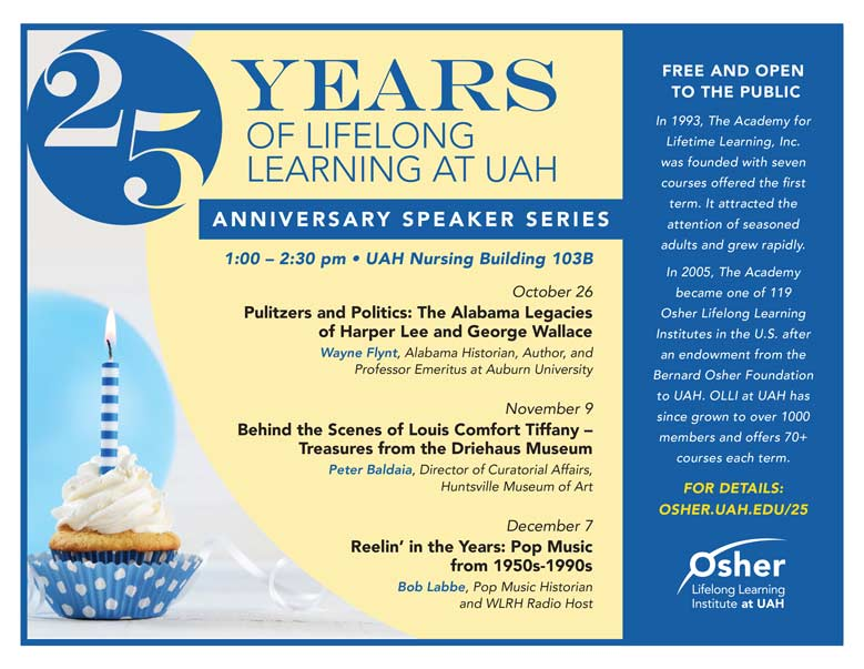 OLLI at UAH - 25 Years of Lifelong Learning at UAH