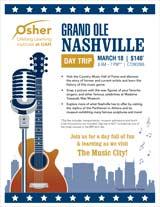 OLLI at UAH - Winter 2020 Day Trip - Nashville, TN - March 18, 2020 - $140